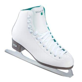 MADE BY JACKSON GLACIER 110 YOUTH SIZE 8 GIRLS WHITE FIGURE ICE SKATE